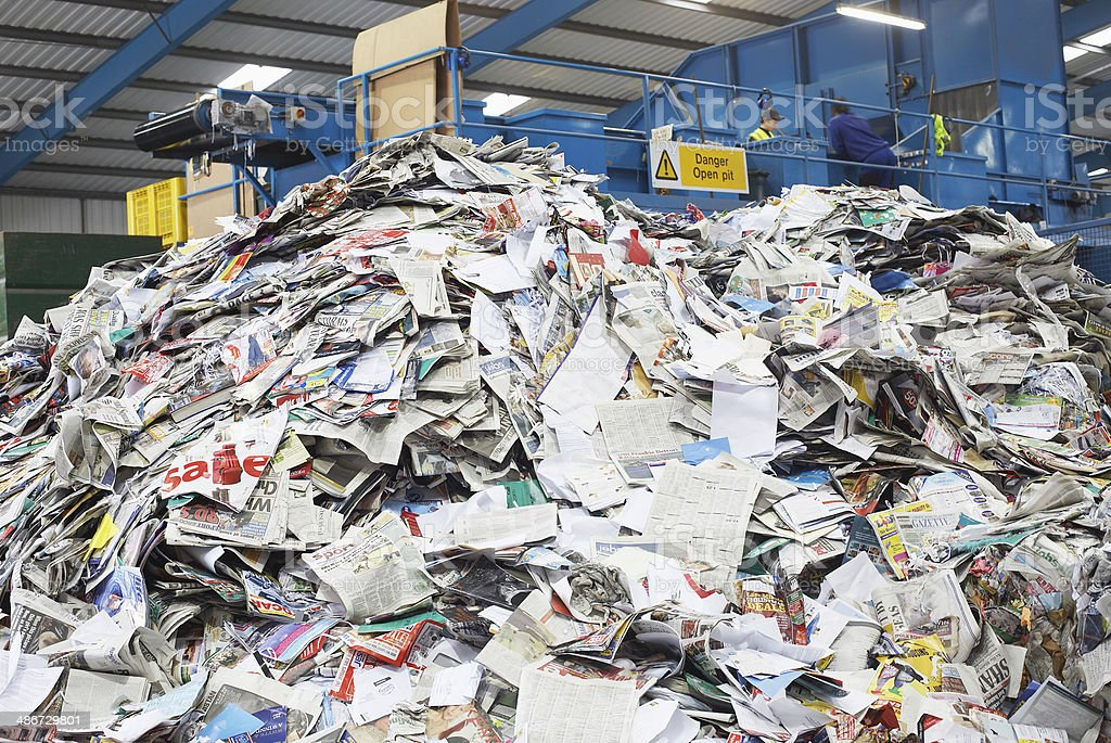 Pile Of Recycled Papers stock photo