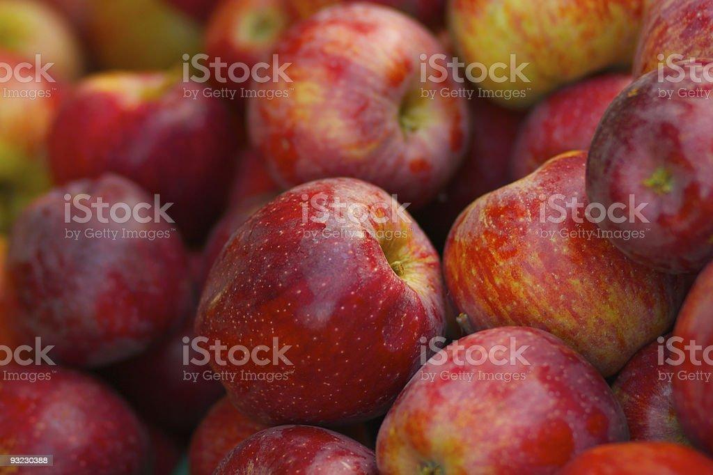 Pile of red braeburn apples stock photo