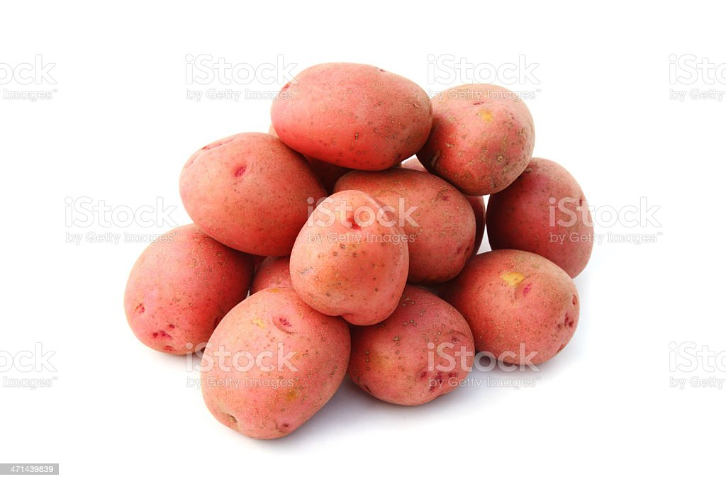 Pile of red potatoes royalty-free stock photo