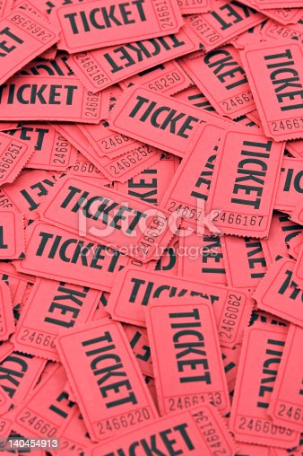 istock Pile of Red Tickets - Vertical 140454913
