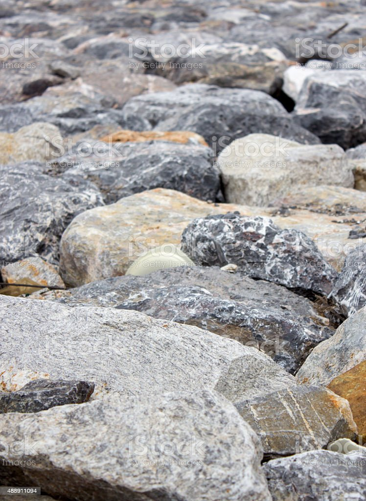 pile of rock and stone stock photo