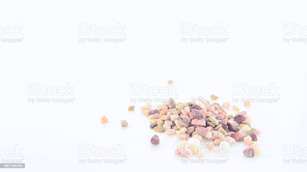 Pile of Rough Natural Stones stock photo