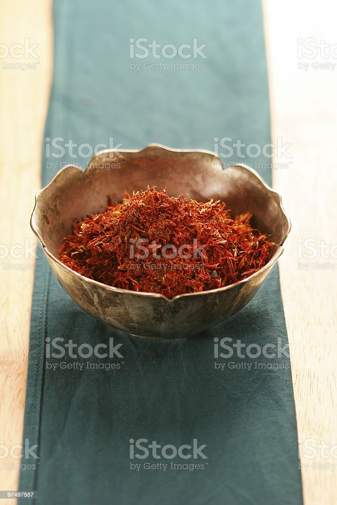 pile of saffron royalty-free stock photo