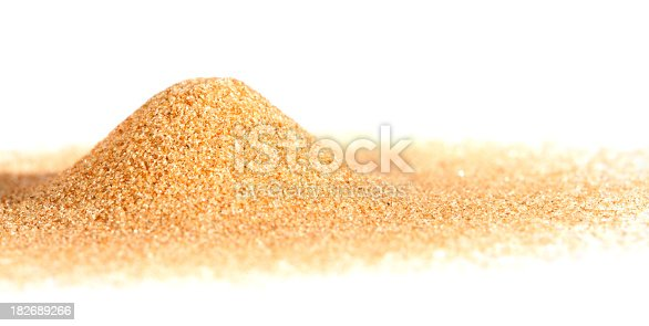 Pile of sand on white background