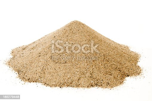 Pile of sand isolated on white