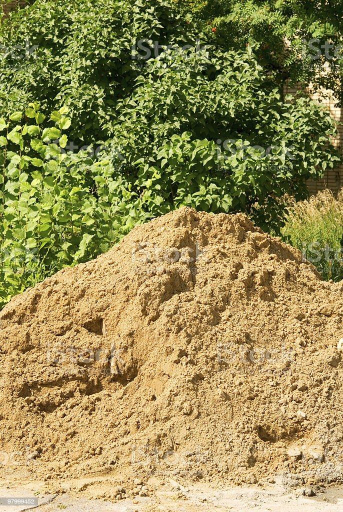 pile of sand royalty free stockfoto