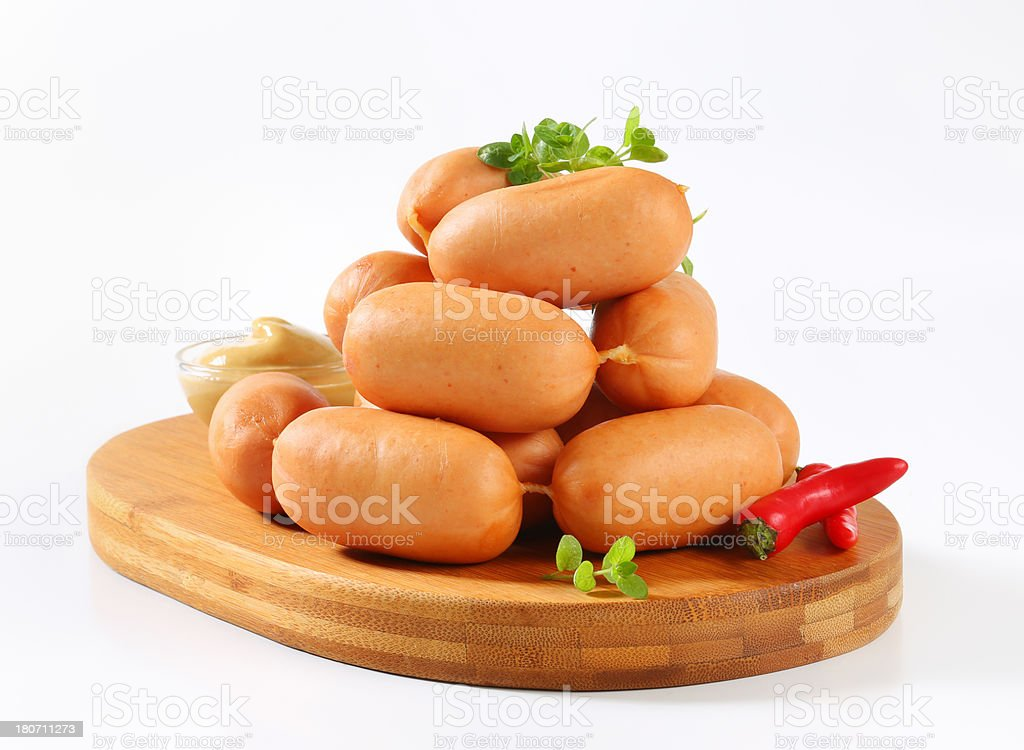 pile of sausages royalty-free stock photo