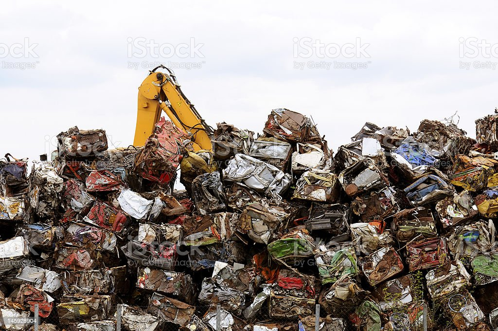 Pile of scrapped Car royalty-free stock photo