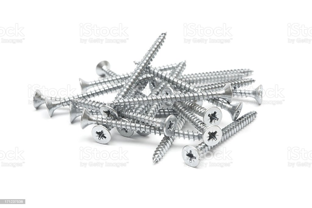 Pile of Screws stock photo