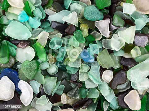 Multi Colored Pile Of Sea Glass
