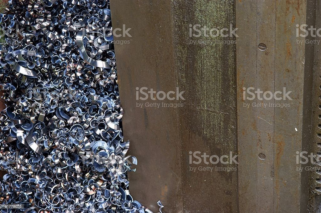 pile of shavings from a scrapyard royalty-free stock photo