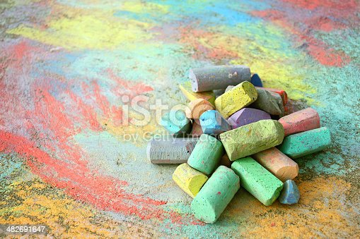 istock Pile of Sidewalk Chalk 482691647