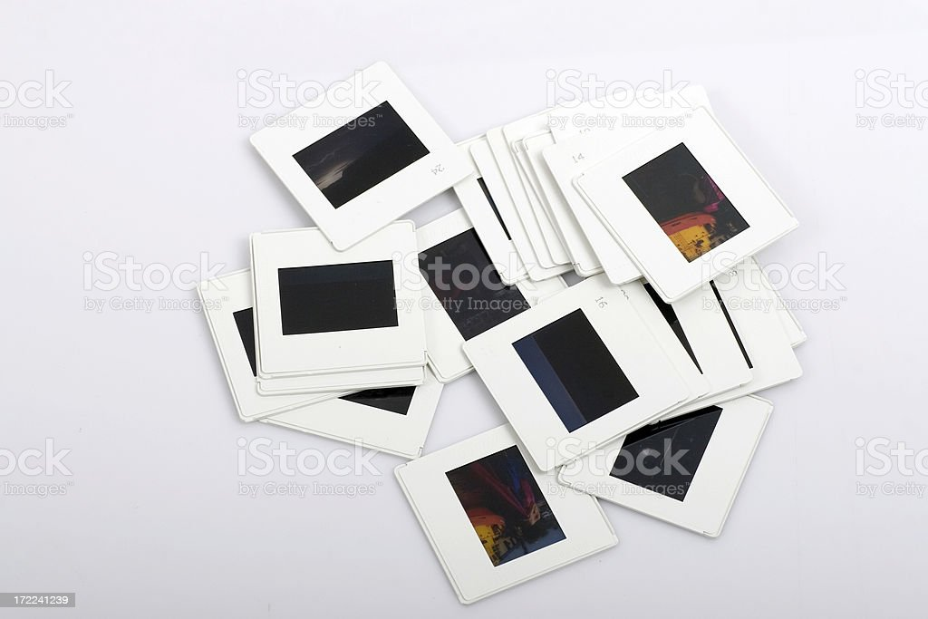 Pile of slides royalty-free stock photo
