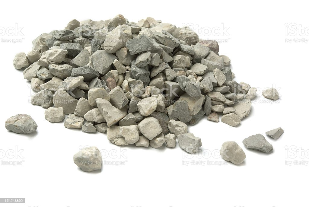 A pile of small pebbles and rocks stock photo