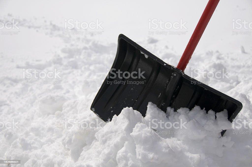 Pile of Snow stock photo