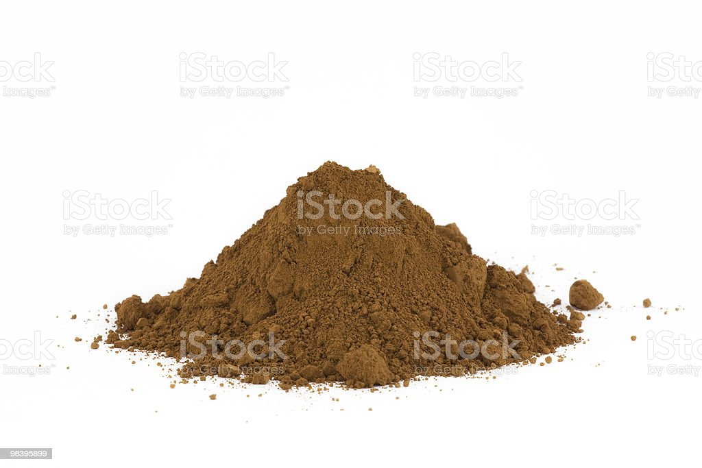 Pile of soil isolated on white royalty-free stock photo