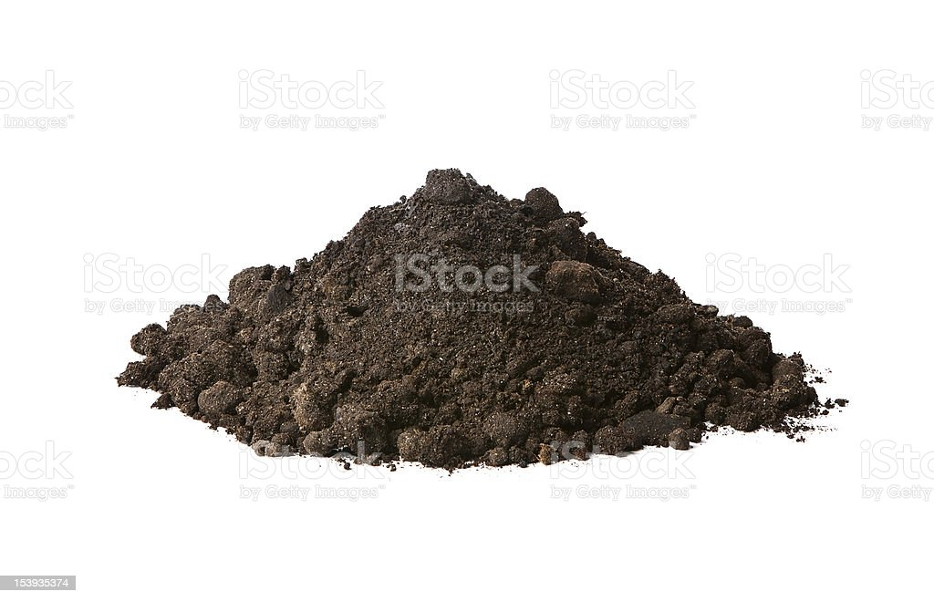 Pile of soil stock photo