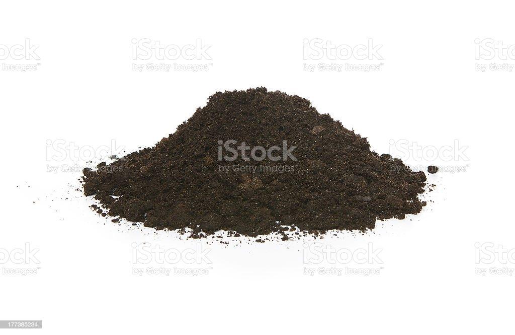 Pile of soil stock photo