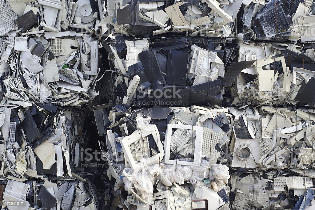Pile of sorted computer waste royalty-free stock photo