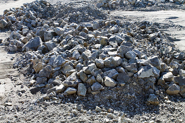 Pile of Stones in Sunny Day stock photo