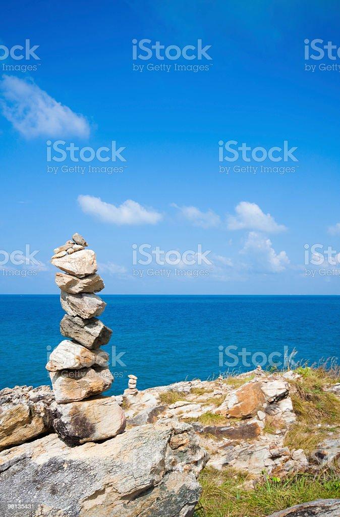 Pile of stones on Koh Samet royalty-free stock photo