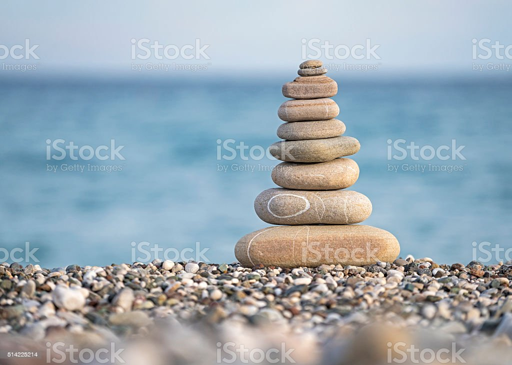 Pile of stones stock photo