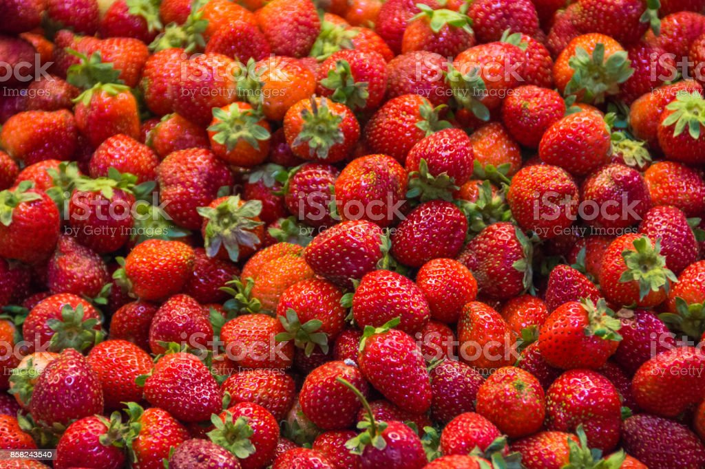 Pile of strawberries stock photo
