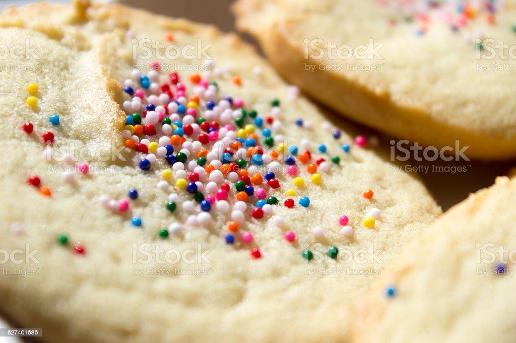 Pile of Sugar Cookies Closeup stock photo