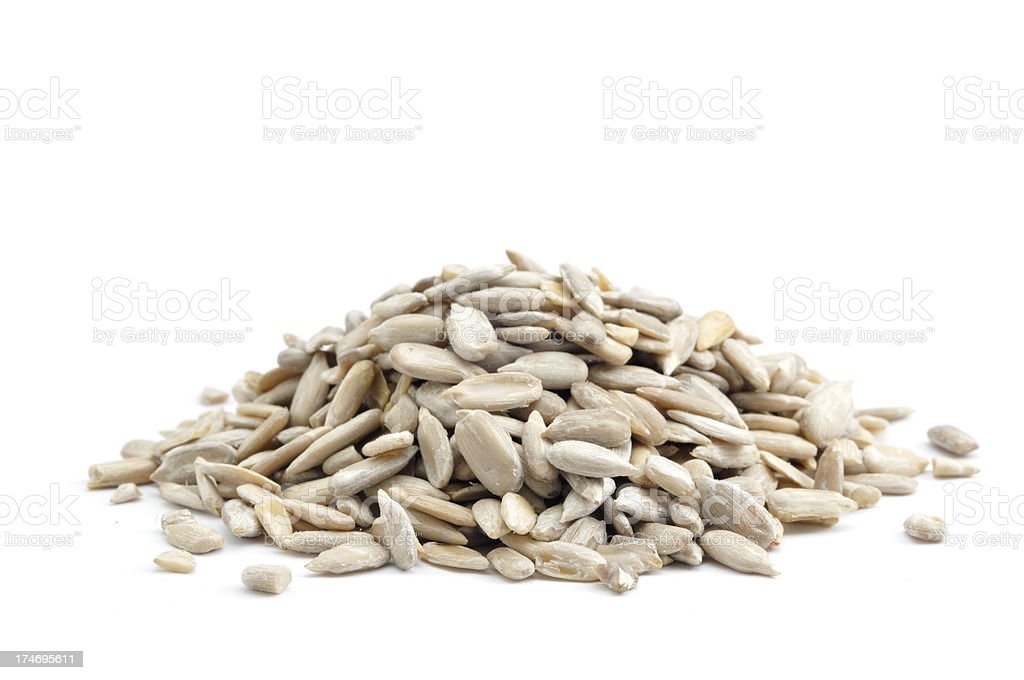 Pile of Sunflower Seeds royalty-free stock photo