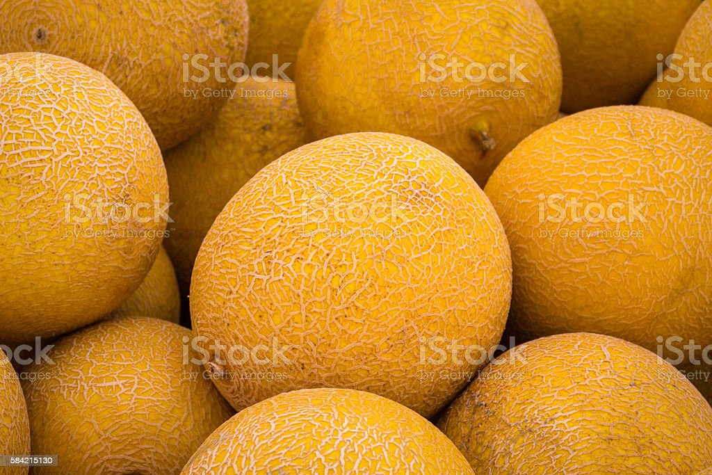 pile of sweet melons , stock photo