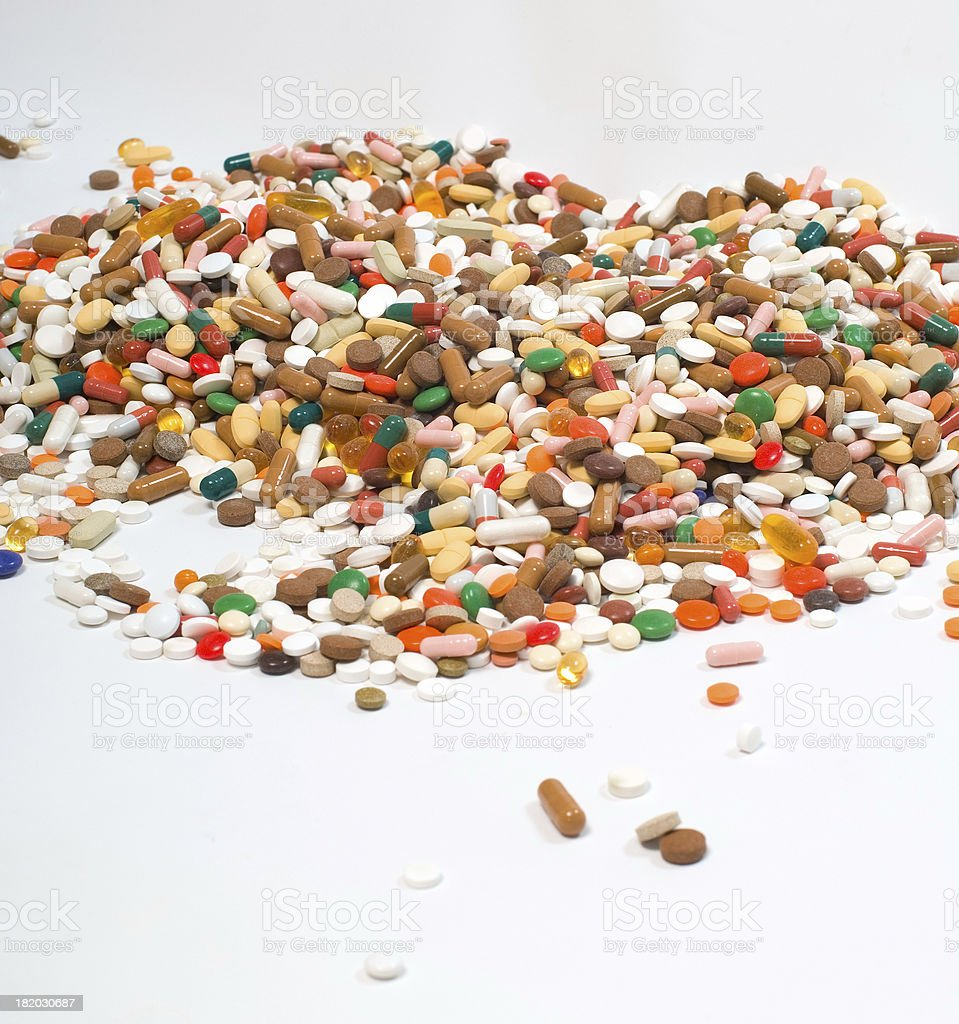pile of tablets stock photo
