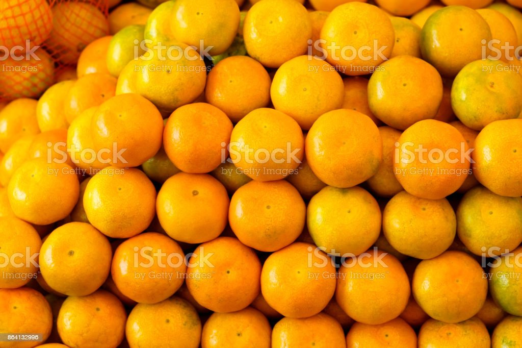 Pile of tangerines background royalty-free stock photo