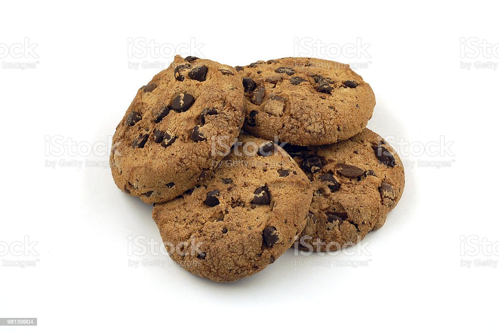 Pile of tasty cookies royalty-free stock photo