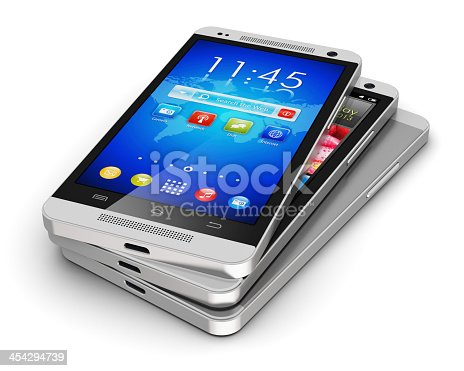 istock A pile of three modern touchscreen smartphones 454294739