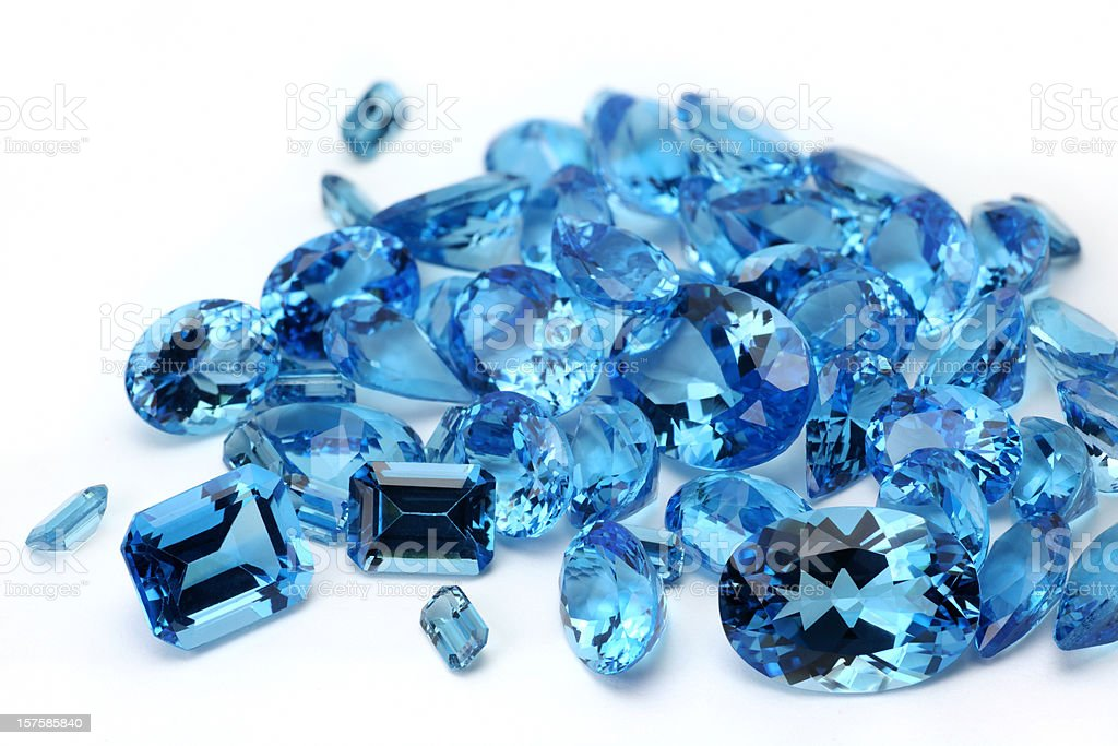 Pile of Topaz royalty-free stock photo