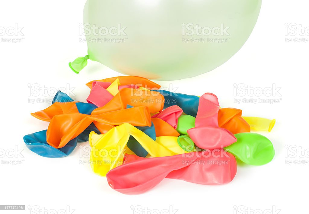 Pile of uninflated balloons royalty-free stock photo