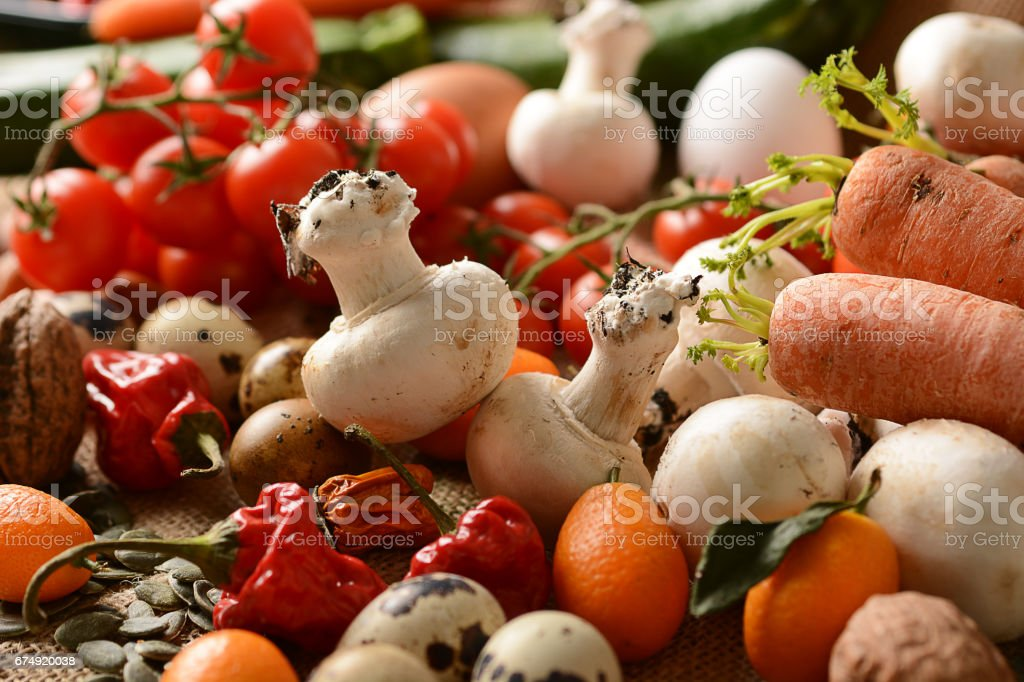 Pile of vegetarian ingredients on the table royalty-free stock photo