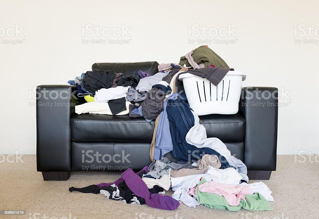 Pile of Washing stock photo