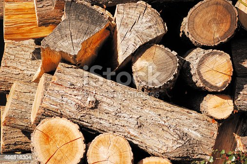 Pile of wood cut for fireplace. May be used as background.