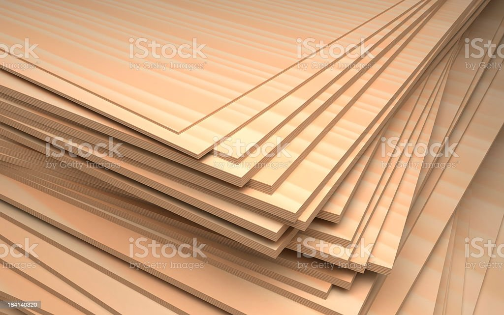 Pile of wood pieces stacked up stock photo