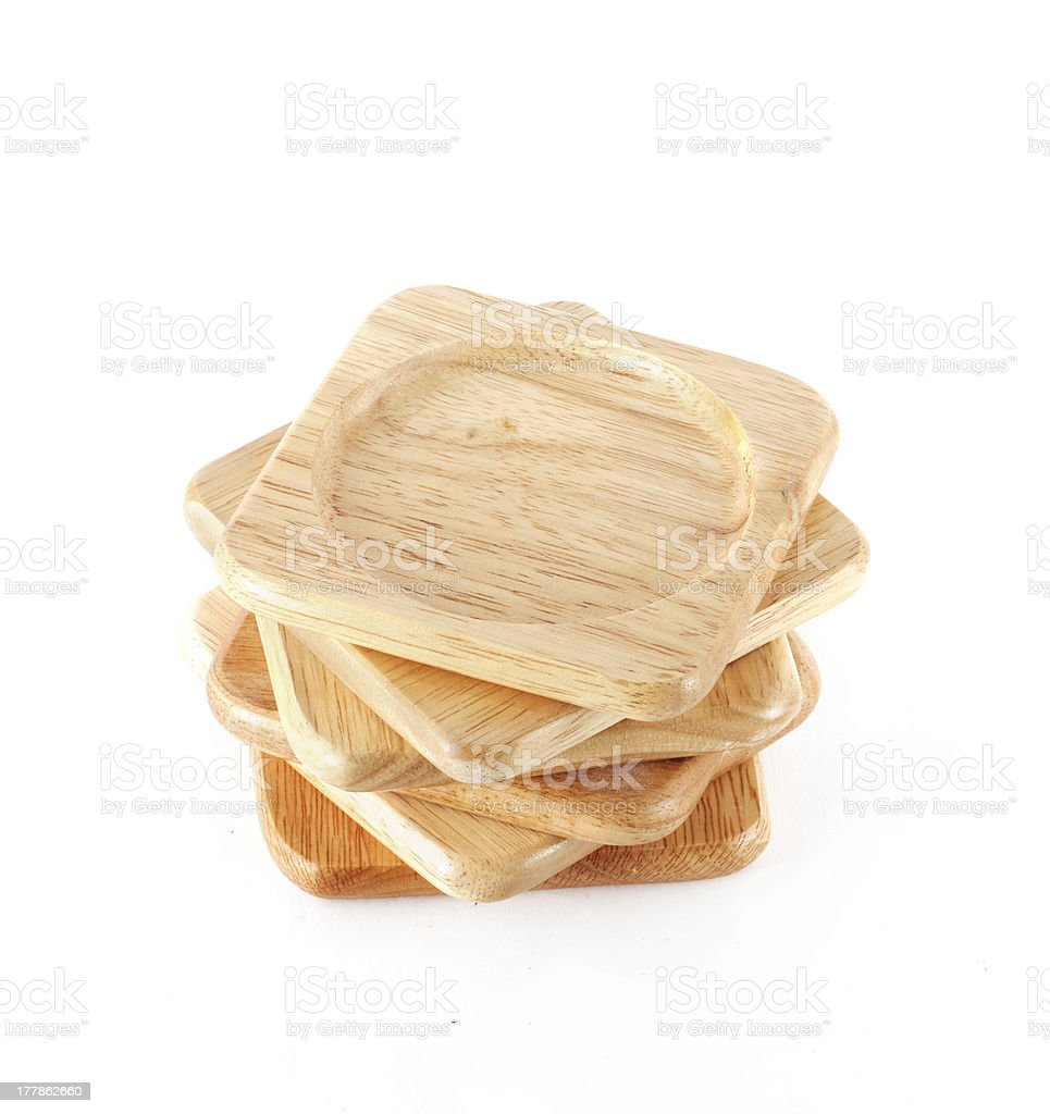 pile of wooden coasters royalty-free stock photo