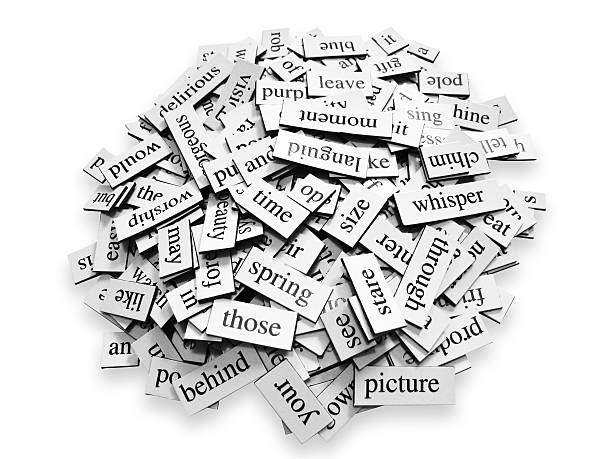Pile of Words Pile of random words on a white background. single word stock pictures, royalty-free photos & images