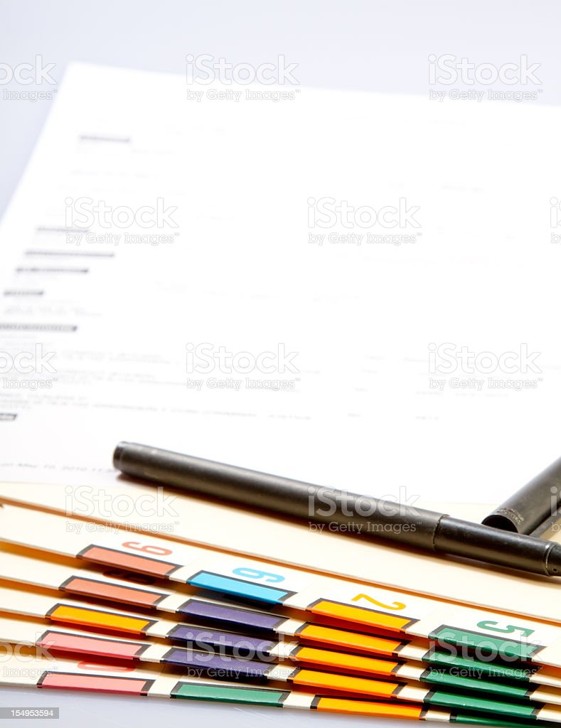 Pile of Work royalty-free stock photo