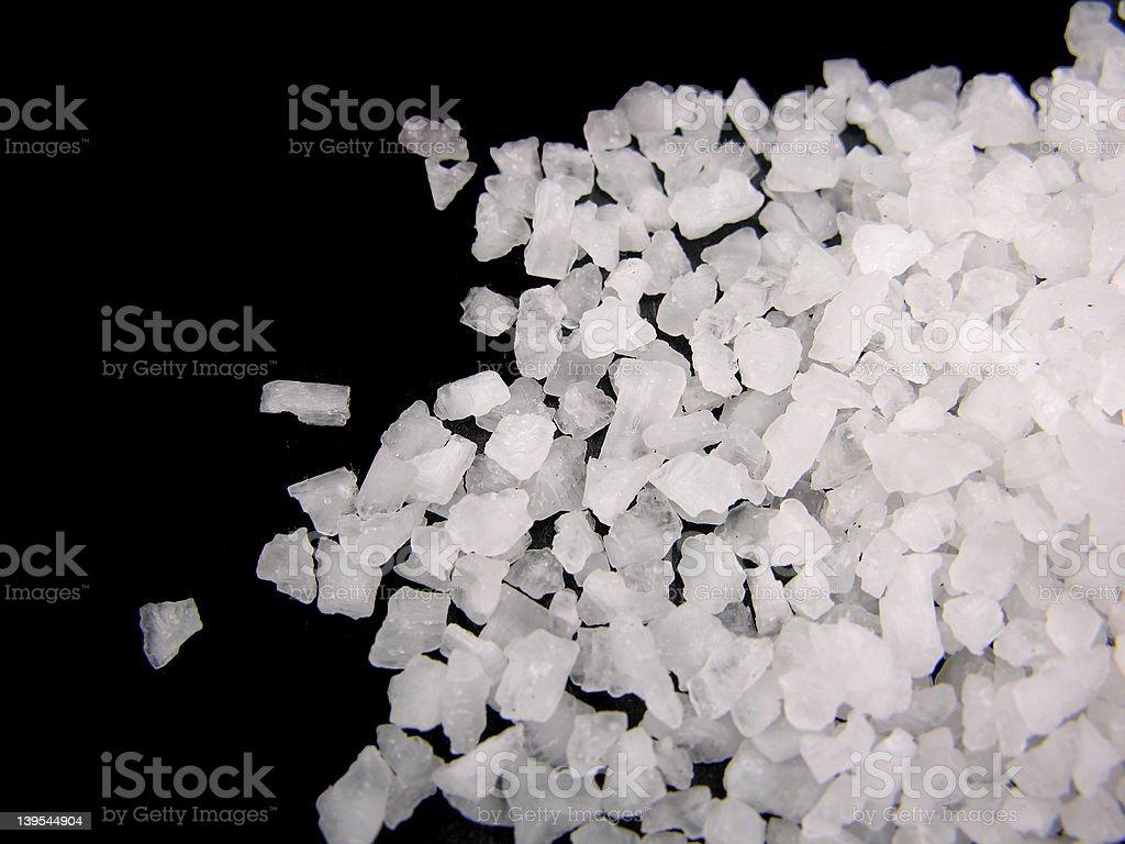 Pile ok sea salt royalty-free stock photo