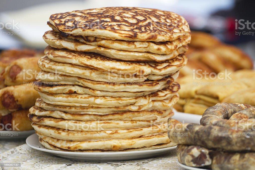 Pile  pancakes royalty-free stock photo