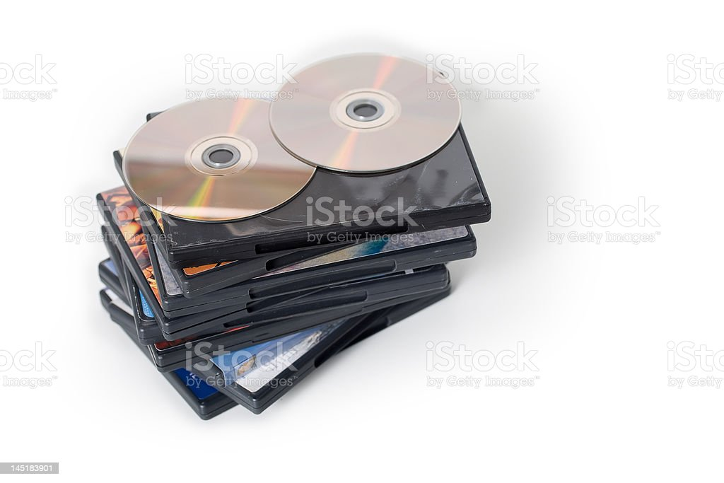 DVD Pile stock photo