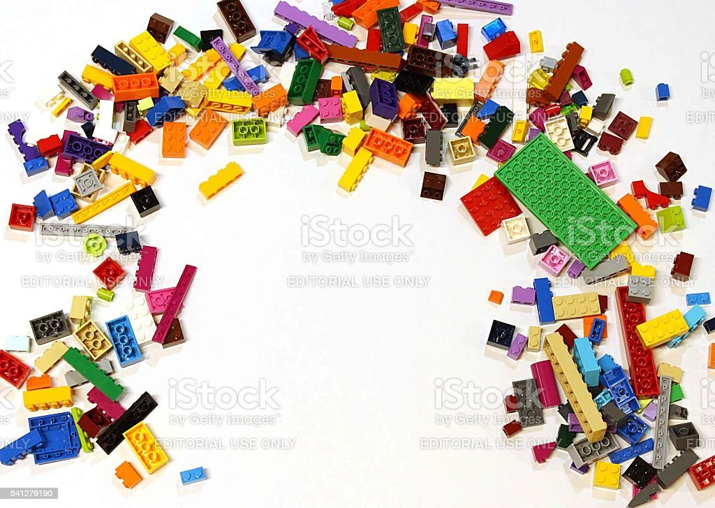 LEGO Pile stock photo