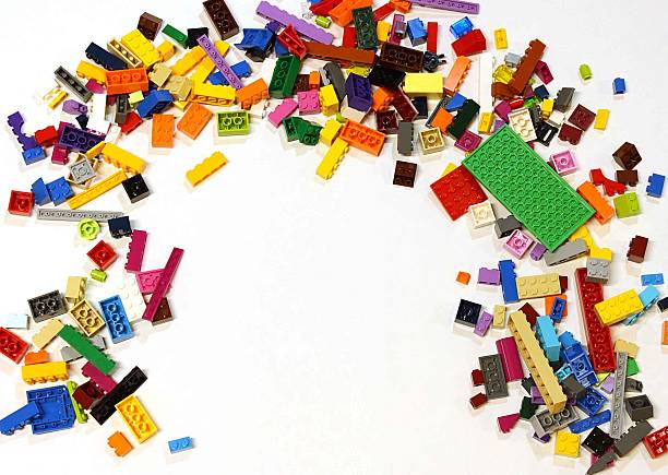 lego pile - lego stockfoto's en -beelden