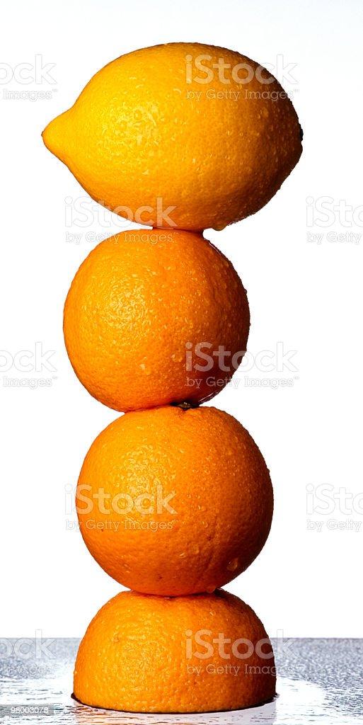 Piled oranges royalty-free stock photo