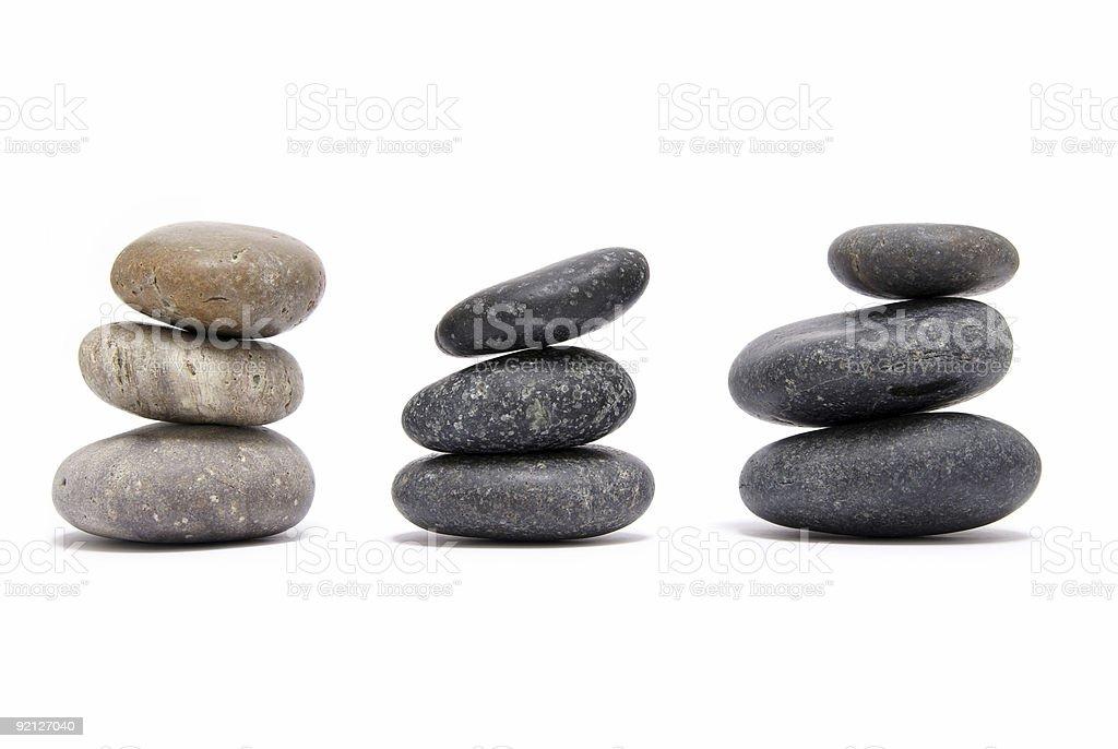 piled round granite stones royalty-free stock photo